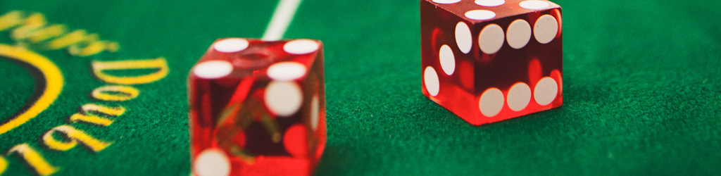 Dice at a casino party