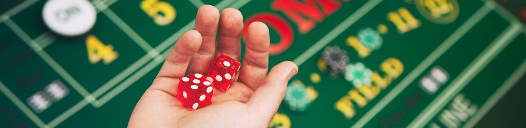 Photo of dice at a casino party