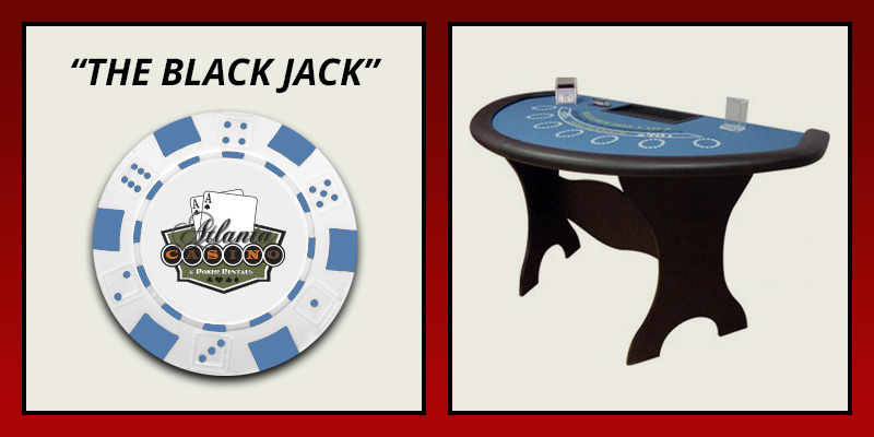 The Black Jack table rental